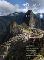 Geodyssey's travel brochure for Peru