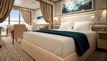 Silver Cloud Expedition cabin Deluxe Veranda Suite