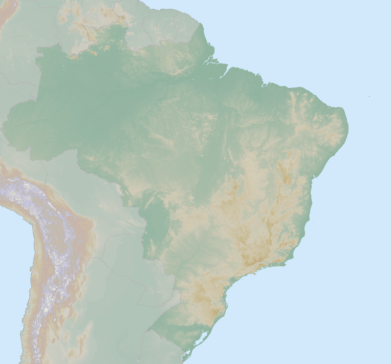 Itinerary map for Brazil 'Rio, Iguazu and the Green Coast' holiday