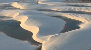 Towering sand-dunes and freshwater lagoons