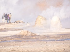 Geyser field in the Andes