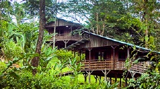 Remote rainforest preserve and eco-lodge
