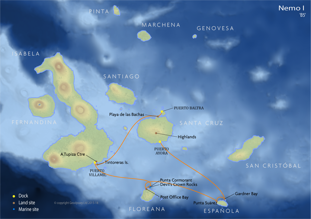Itinerary map for Nemo I 'B5' cruise