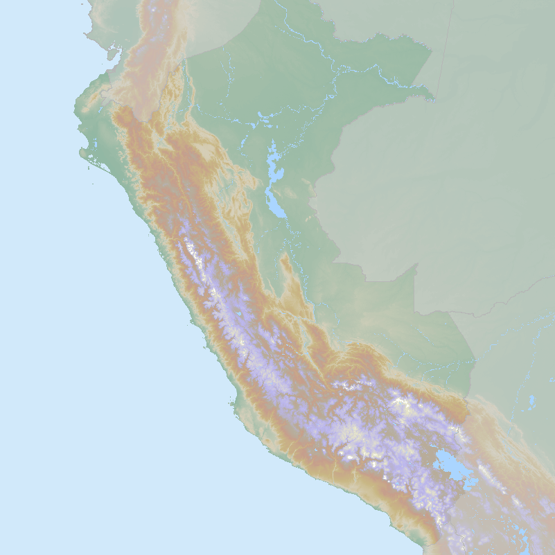 Itinerary map for Peru 'Peru Birds and Culture' holiday