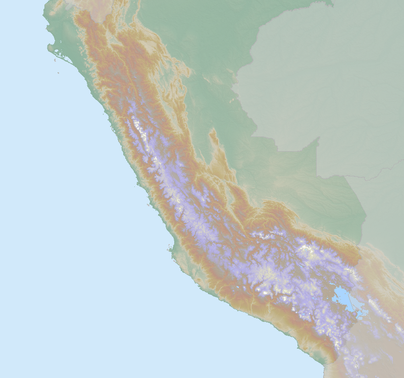 Itinerary map for Peru 'A Month in Peru' holiday