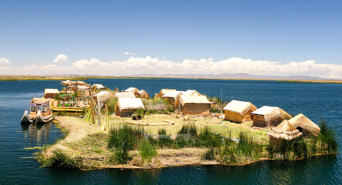 Reed island, Lake Titicaca