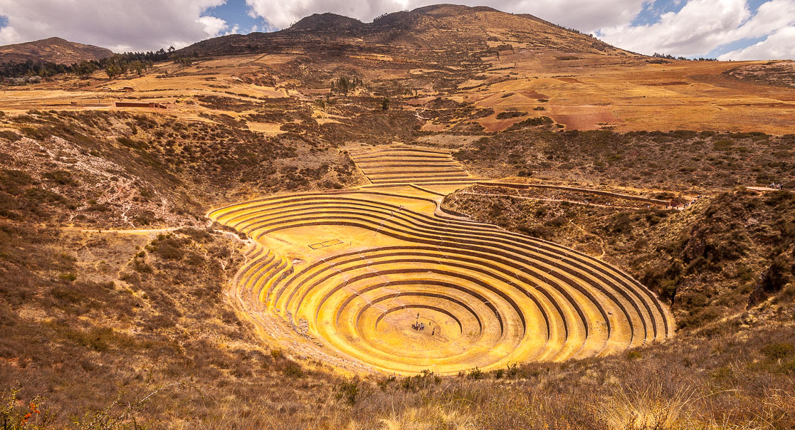 Incan agricultural terraces at Moray, above the Sacred Valley