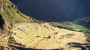 Incan sites along the trail